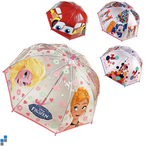 Parapluie transparent 90cm 4x Frozen & Co.