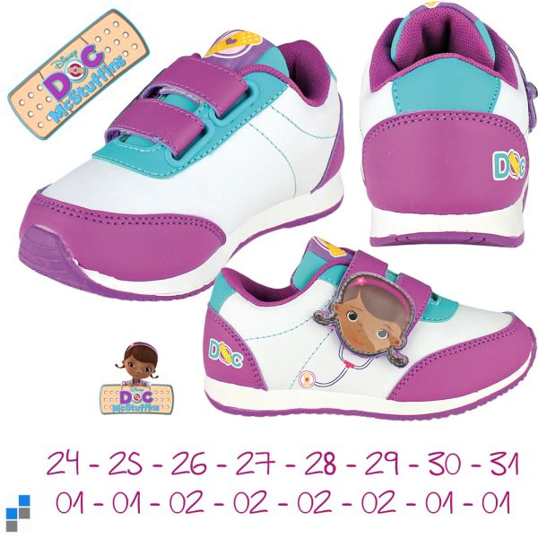 Sports shoes size<br> 24-31 sorted Doc<br>McStuffins