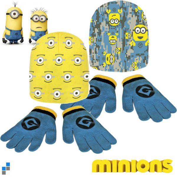 Winterset 2-teilig<br> (Mütze &<br>Handschuhe) Minion