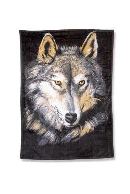 Flauschige Decke<br> Wolfshead