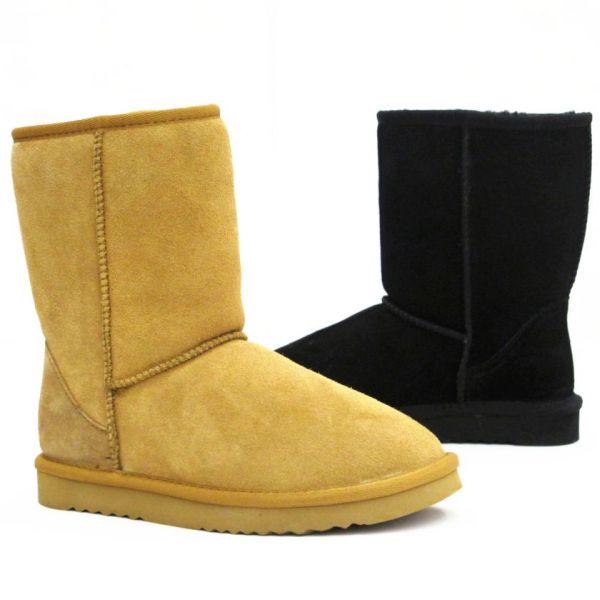 Echtes Leder Damen<br> Winter Boots<br>Stiefel Schuhe