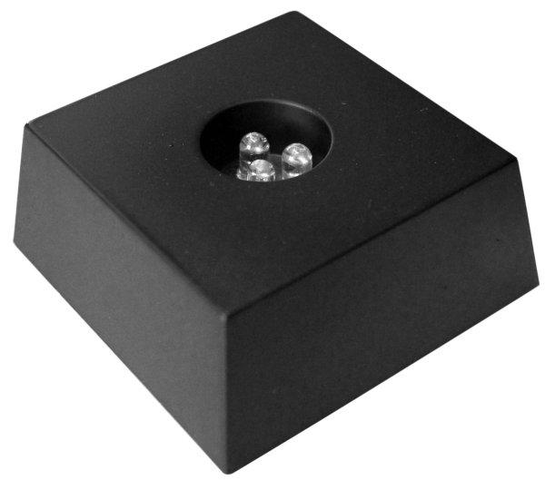 LED Untersetzer schwarz