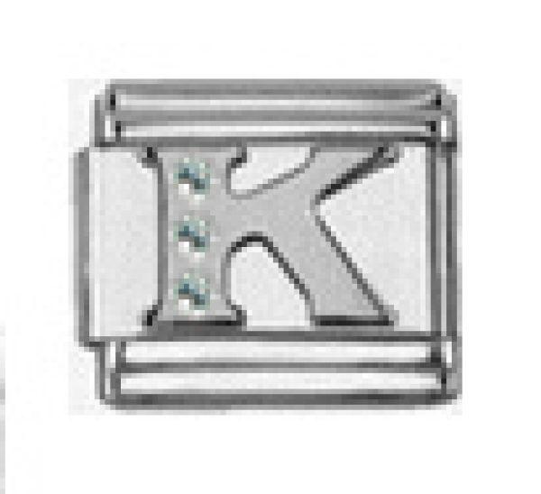 Italian Charm Armband Glied Buchstabe K