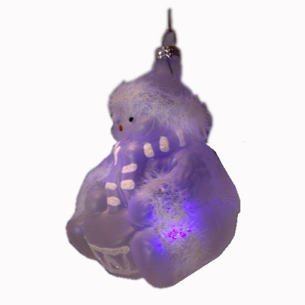 Weihnachtskugeln aus Glas Bärchen mit LED