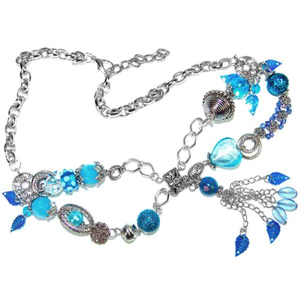 Halskette Glas Perlen