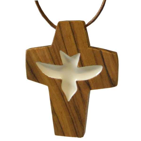 Halskette Kreuz Olivenholz aus Bethlehem