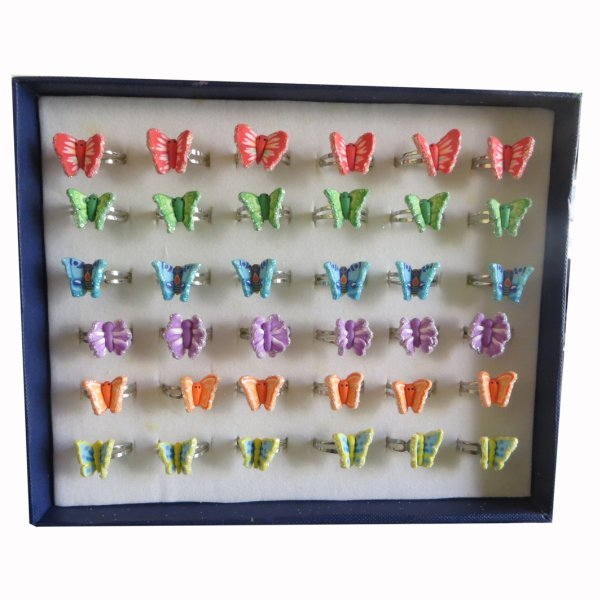 FIMO Kinder Ringe Schmetterlinge