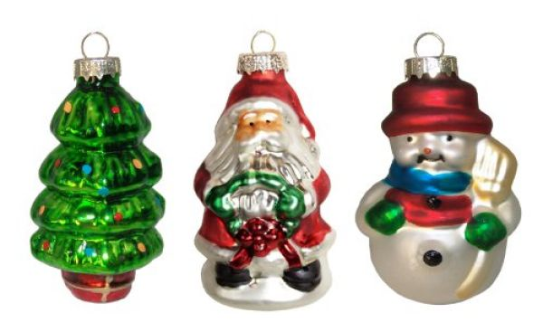 3 Weihnachts Anhänger in Geschenkbox