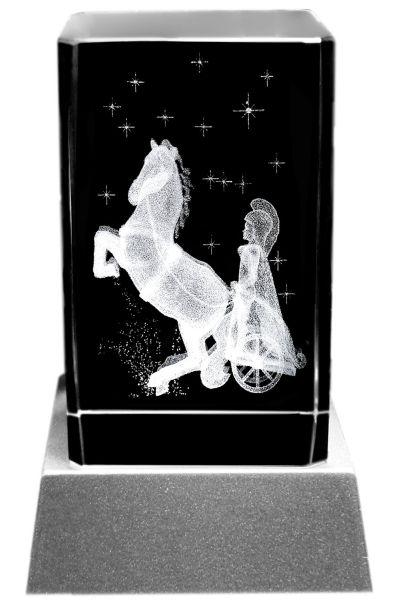 Kristallglas 8x5x5 cm mit 3 D Laserung