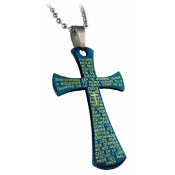 Halskette mit Edelstahl Kreuz