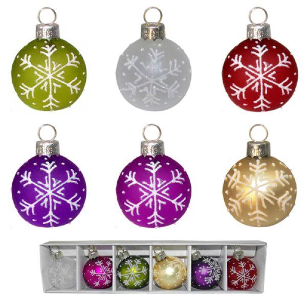 Weihnachtskugeln aus Glas 6er Set