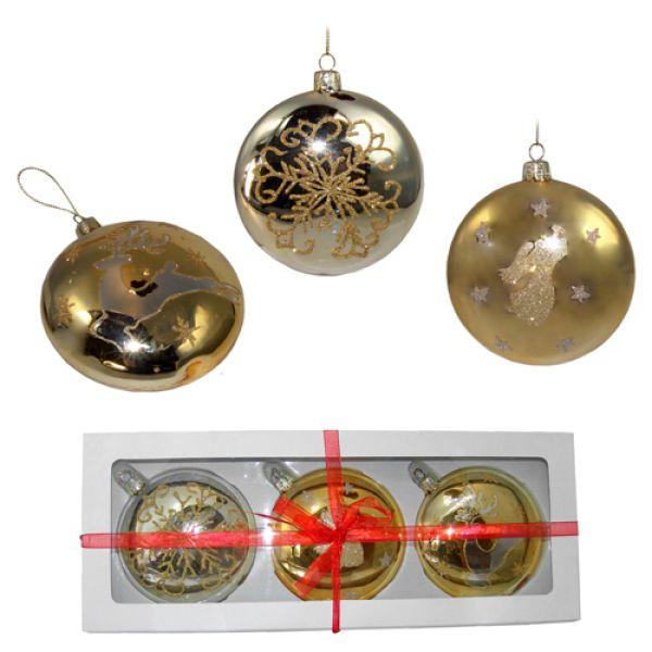 Weihnachtskugeln 10 cm aus Glas