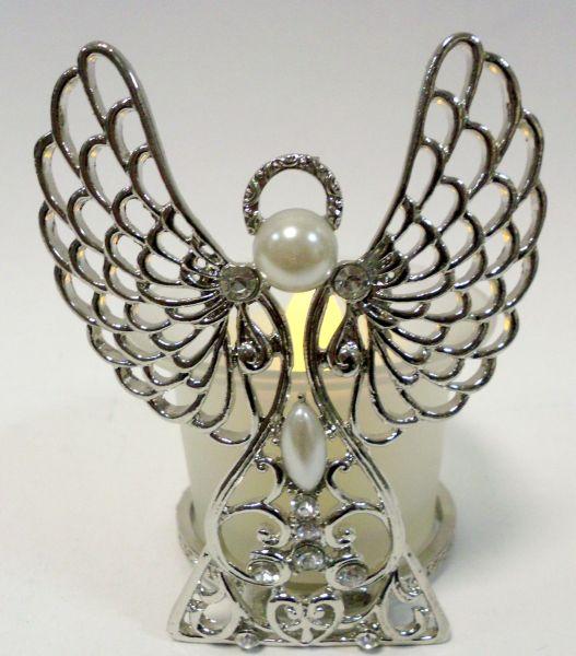 Kerzenhalter mit Perlen