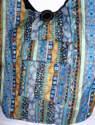 Cloak Bag shiny blue