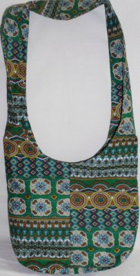 Mantle fabric bags<br>h green pattern R.