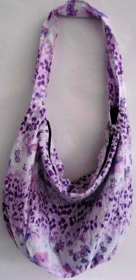 Brokat Bag Cloak /<br> kropki biały /<br>fioletowy