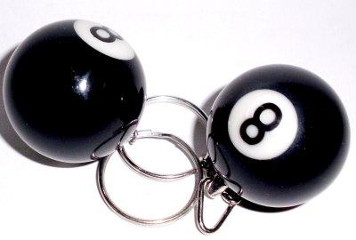 Billardkugeln mit Schlüsselanhänger schwarz