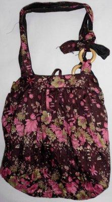 Cloak Bag<br> glistening brown /<br>pink