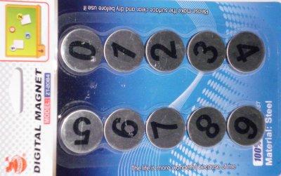 Magnete mit Zahlen