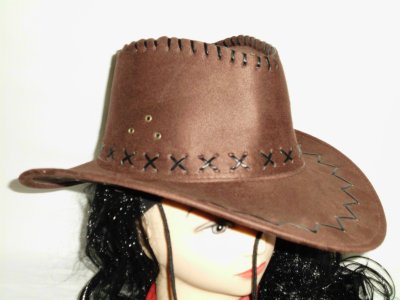 Cowboy Hat brown<br>suede optics