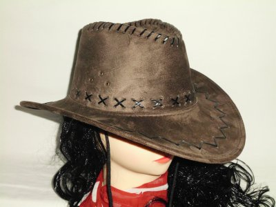 Cowboy hat dark<br>brown suede