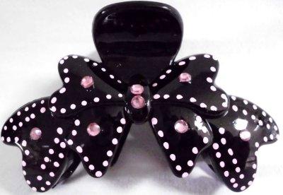 Hair clip bow<br>heart shape