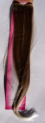 sztuczne blond<br>włosy z 2 klipsami