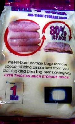 Vacuum clothes bag<br>120x92cm