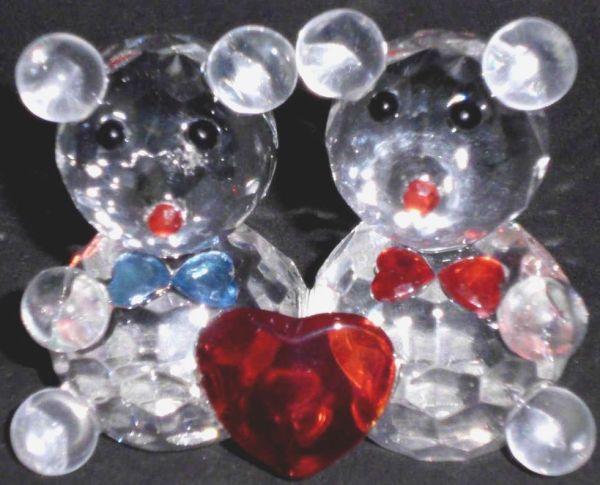 Glaskristall Maus 2er