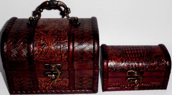 Geschenkbox aus Holz 12cm