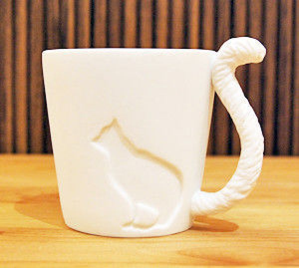 Cup with a tail - kitten