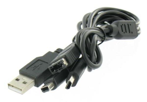 3 in 1 USB-Ladegerät für DSi und DSi XL DSL GBA