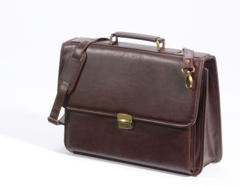 Briefcase, brown,<br>approx 43cm