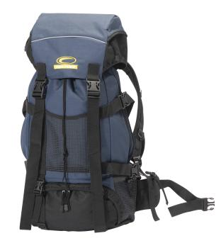 Trekking backpack, black / blue, approx 34x68x22cm
