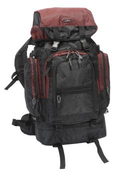 Trekking backpack approx 68 cm, black / red