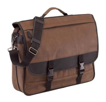 Document bag, brown, 41cm