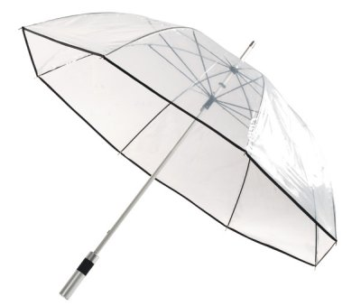 Aluminum golf<br> umbrella black,<br>transpar