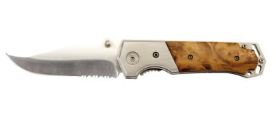 Hunting knife in a<br> wooden case, 11.5<br>x 3.3 2