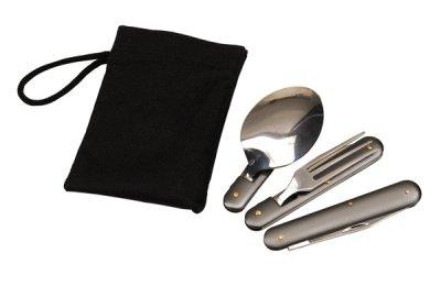 Outdoor cutlery<br> set, 3-piece nylon<br>in B