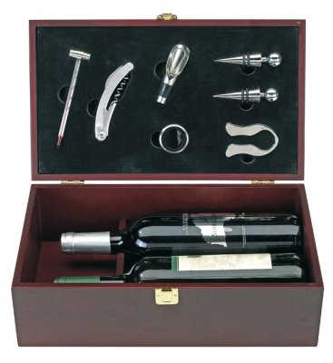 Wine Set 7-pc. in<br> wooden box, for 2<br>Flash