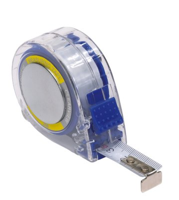 Measuring tape<br> with clip, 3m,<br>blue, 6 x 5.5 x 2.5