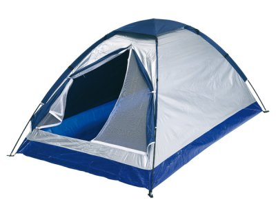 Igloo tent for 2<br> people, silver,<br>blue,