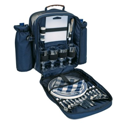 Picnic Backpack<br>for 4, blue,