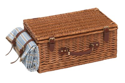 Picnic basket for 4 persons, brown,
