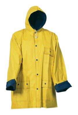 Żółte kurtka<br> przeciwdeszczowa,<br>niebieski, XXL