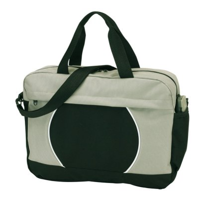 Document Bag,<br> black, gray,<br> approximately 38 x ...