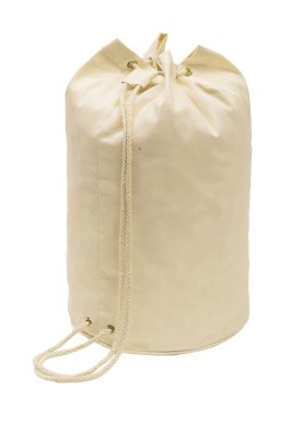 Duffel bag with cord, beige, 45 x Ø25