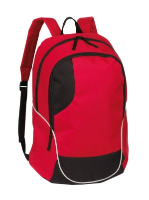 RUCKSACK  Curve ,<br> 600D, rot, ca. 46<br>x 34 x 19 cm