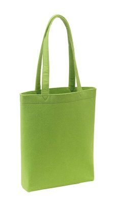 Felt bag, green,<br>about 38 x 42 x 8