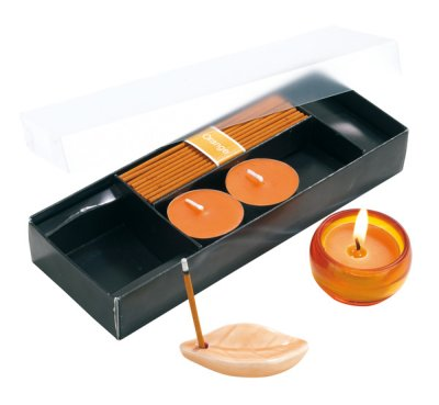 Duft-Set  orange, in Geschenkbox mit g